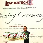 """The Inaugural Ceremony of the """"4th Leathertech Bangladesh 2016"""" Fair."""